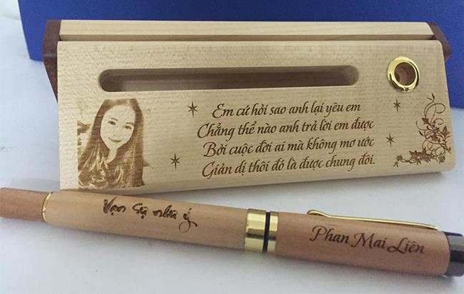 Bút gỗ tặng người yêu ý nghĩa
